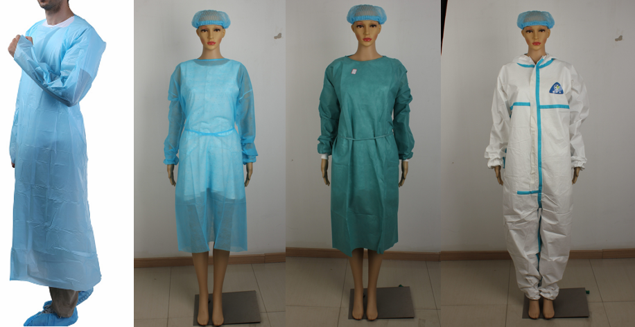 isolation gown and surgical gown