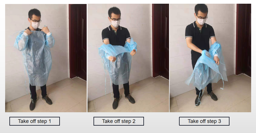 right way to take off the nonwoven surgical gown