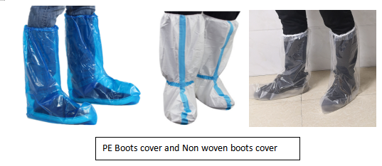 PE boots cover and non woven boots cover