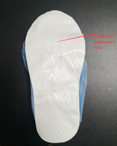 Thick PVC laminated Embossed Boots cover